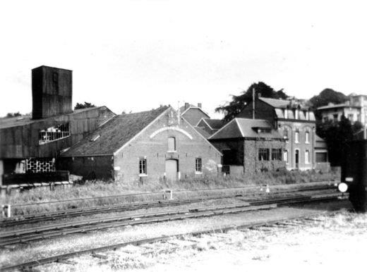 Front view of the factory in 1950